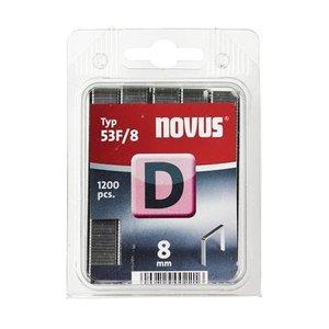Novus Novus Vlakdraad nieten D 53F/8 mm - 1200 stuks - 042-0375