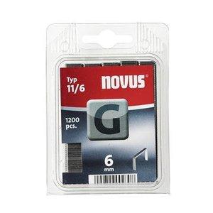 Novus Novus Vlakdraad nieten G 11/6 mm - 1200 stuks - 042-0384