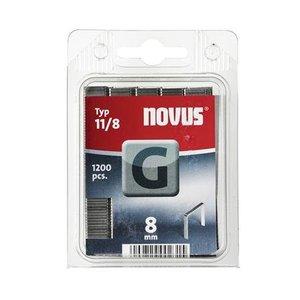 Novus Novus Vlakdraad nieten G 11/8 mm - 1200 stuks - 042-0385