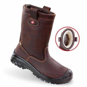 Sixton safety shoes Sixton Werklaars Montana 81156-23 bruin met bont
