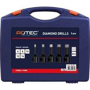 Rotec Rotec M14 Diamantboorkronen in ABS-koffer 5-Delig - 757.9001