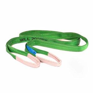 HEVU TOOLS Hijsband 2 ton groen - 1 t/m 5 meter