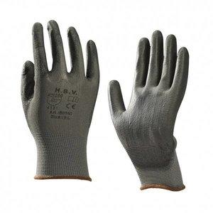 HBV safety gloves HBV 80550 PU Montage- werkhandschoen - zwart
