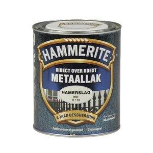 Hammerite Hammerite Metaallak hamerslag H110 wit 750ML