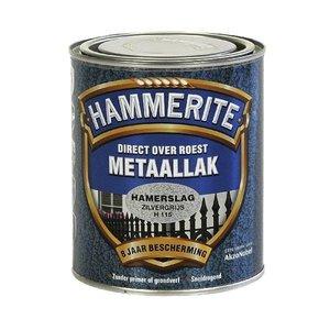 Hammerite Hammerite Metaallak hamerslag H115 zilver grijs 750ML