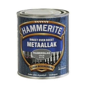 Hammerite Hammerite Metaallak hamerslag H118 grijs 750ML