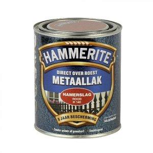 Hammerite Hammerite Metaallak hamerslag H140 rood 750ML