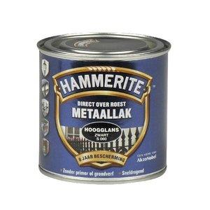Hammerite Hammerite Metaallak hoogglans S060 zwart 250ML