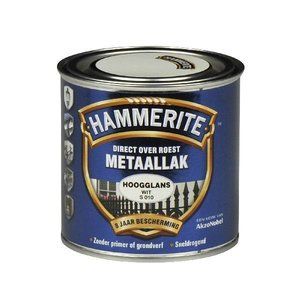 Hammerite Hammerite Metaallak hoogglans S010 wit 250ML