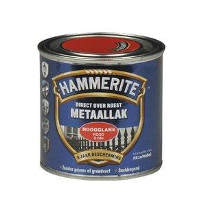 Hammerite Hammerite Metaallak hoogglans S040 rood 250ML