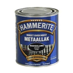 Hammerite Hammerite Metaallak hoogglans S060 zwart 750ML