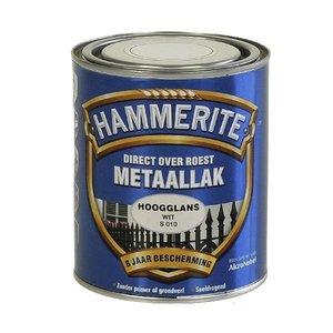 Hammerite Hammerite Metaallak hoogglans S010 wit 750ML