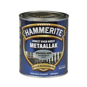 Hammerite Hammerite Metaallak hoogglans S015 zilver grijs 750ML