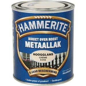 Hammerite Hammerite Metaallak hoogglans S012 creme 750ML