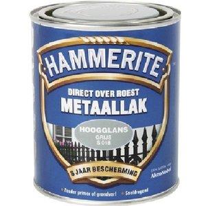 Hammerite Hammerite Metaallak hoogglans S018 grijs 750ML