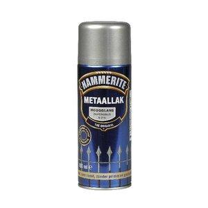 Hammerite Hammerite Metaallak hoogglans S015 zilver grijs 400ML