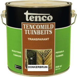 Tenco Tencomild tuinbeits donkerbruin transparant 2,5 Liter