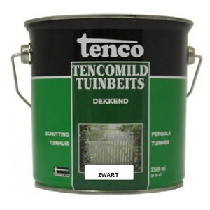 Tenco Tencomild tuinbeits zwart dekkend - 2,5 Liter - RAL9005