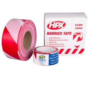 Hpx HPX Barrier tape - Afzetlint rood wit - B50100 / B70100