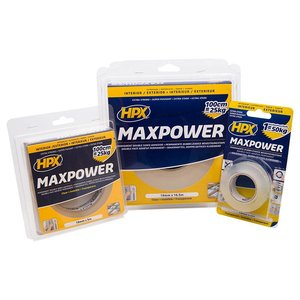 HPX tapes HPX Max Power dubbelzijdige bevestigingstape transparant