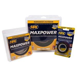 HPX tapes HPX Max Power Outdoor dubbelzijdige bevestigingstape zwart