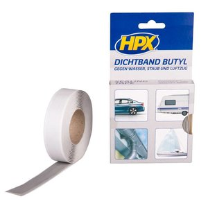 HPX tapes HPX Butyl Afdichtings tape 20mm x 3 meter BU2003