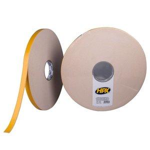 HPX tapes HPX Dubbelzijdige bevestigingstape 3mm wit 19mm x 25 meter DW1925