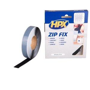 Hpx HPX Zip FIx Klittenband (haak) zwart 20mm x 5 meter Z2005H