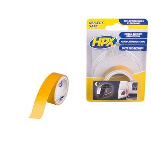 HPX tapes HPX Reflecterende tape geel 19mm x1,5 meter ZC11
