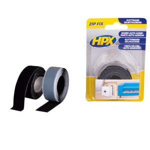 Hpx HPX Zip Fix Klittenband (haak+lus) 2x20mm x 1 meter ZF2001