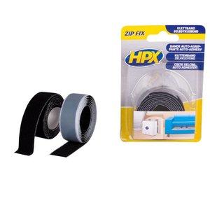 HPX tapes HPX Zip Fix Klittenband (haak+lus) 2x20mm x 1 meter ZF2001