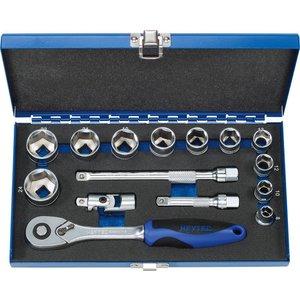 "Heytec Tools Heytec Dopsleutelset 3/8"" 15-Delig 50842-3015"
