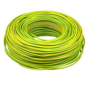 Donné Donne VD draad 2.5 mm² aarde - groen/geel ECA 100 meter