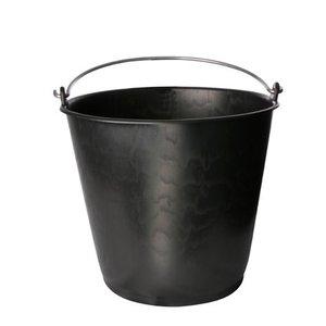 Bouwemmer 20 Liter zwaar model zwart