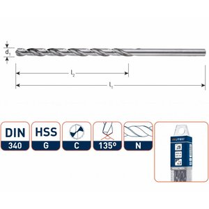 HEVU TOOLS HEVU Metaalboor HSS-G silver-line lang in box 2 - 12,5 mm