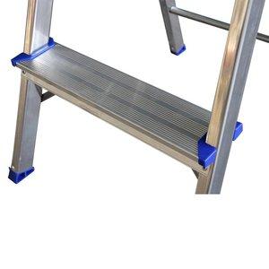 Alumexx Alumexx ECO huishoudtrap met gereedschapbakje - aluminium - 1