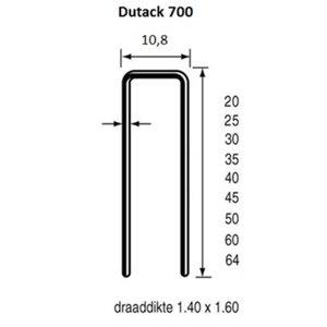 Dutack Fasteners Dutack Nieten 764 64 mm verzinkt 10.000 stuks - 5056046