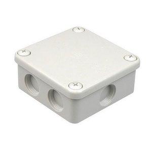 HEVU Universeel kabeldoos + 3 wartels kunststof PG16 grijs IP55