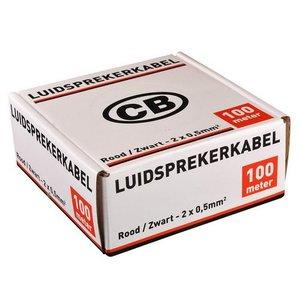 CB CB Luidsprekerkabel 2x0,5 mm²  100 meter rood/zwart