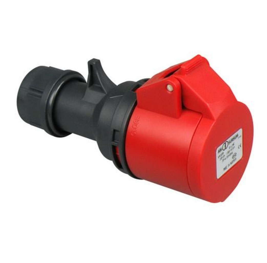 ABL ABL CEE kracht contrastekker 16A 4-Polig rood - K41S30