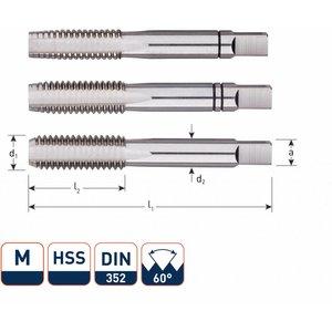 Rotec Rotec HSS Handtappenset metrisch set à 3 stuks M3 - M12