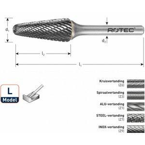 Rotec Rotec HM Stiftfrees kegelvorm met ronde kop model L (KEL)