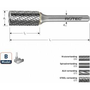 Rotec Rotec HM Stiftfrees cilindervorm met kopvertanding model B (ZYA-S)