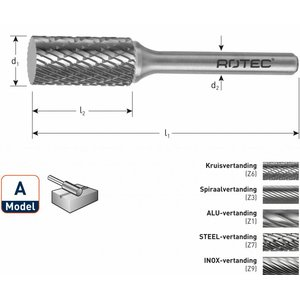 Rotec Rotec HM Stiftfrees cilindervorm model A (ZYA)