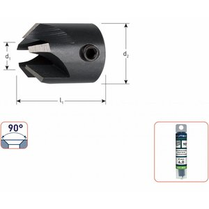 Rotec Rotec WS opsteekverzinkboor 90° 3 -10 mm