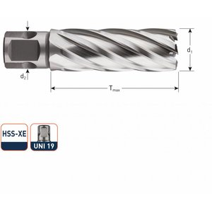 Rotec Rotec HSS-XE Kernboor silver-line 55 mm (UNI) 12 - 40 mm