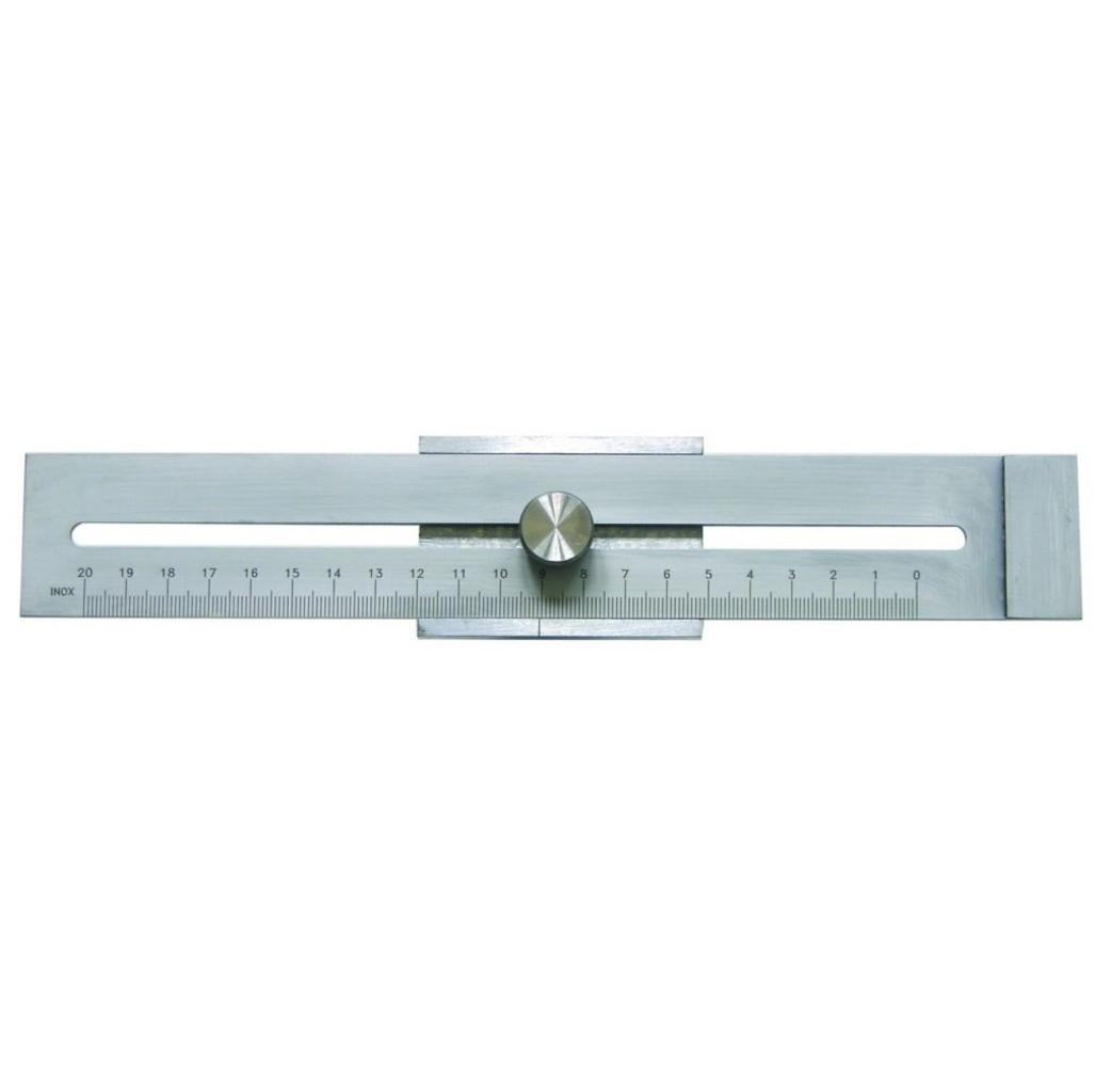 Afschrijfliniaal 250 mm - staal