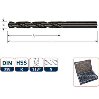 Rotec Rotec HSS-R Metaalborenset 170-Delig - ABS koffer - 900.0170K