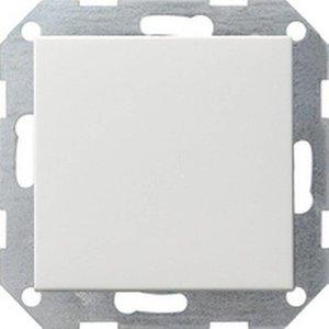 Gira Gira 012603 Drukvlakschakelaar wissel - standaard 55 - zuiver wit glanzend