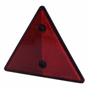 Reflector driehoek rood - 150x150 mm - opschroefbaar